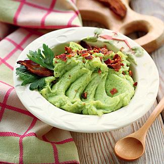 Рецепт Картофельное пюре с зеленью, чесноком и беконом