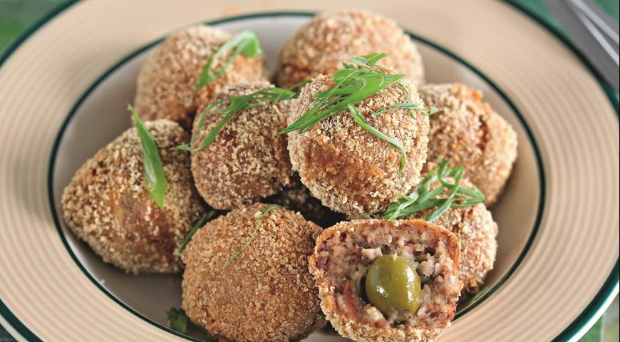 Рецепт Мясные шарики с оливками