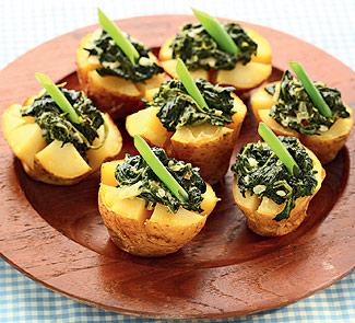 Рецепт Печеный картофель с зеленой начинкой