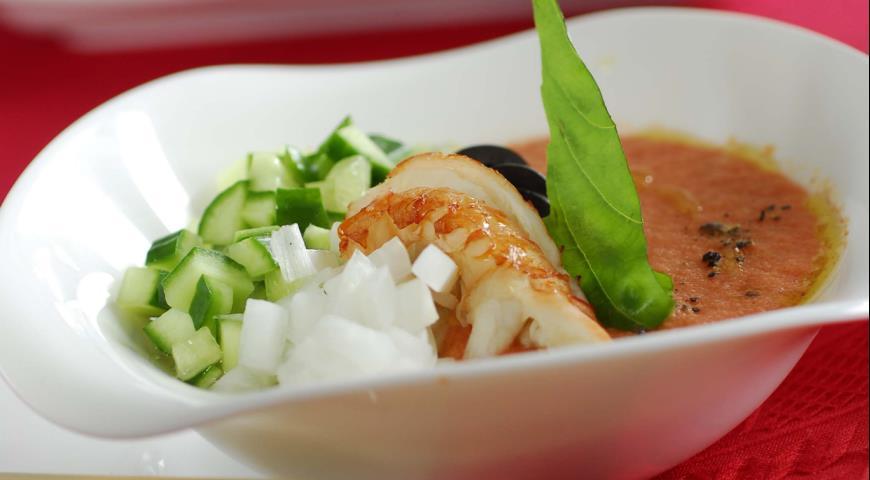 Рецепт Томатный суп с раками