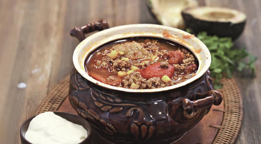 Рецепт Рагу из индейки с чили и кукурузой