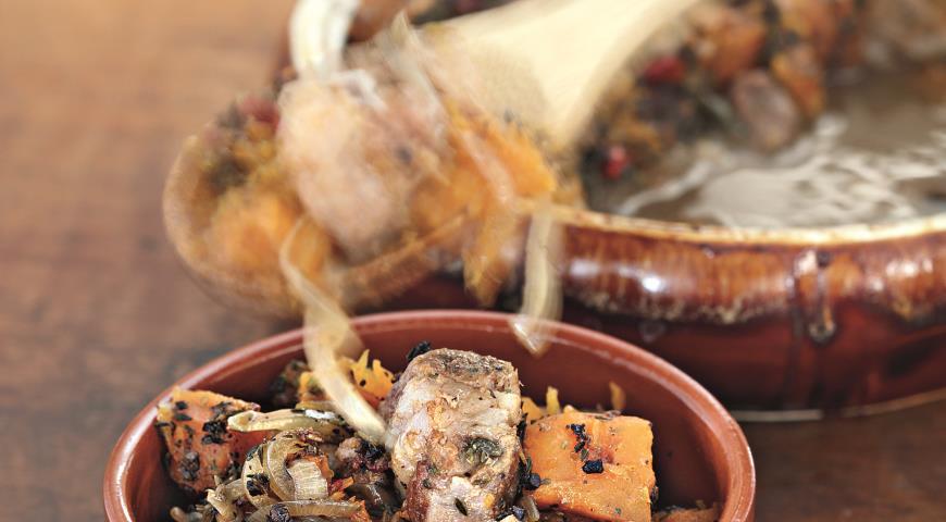 Рецепт Рагу из тыквы со свининой