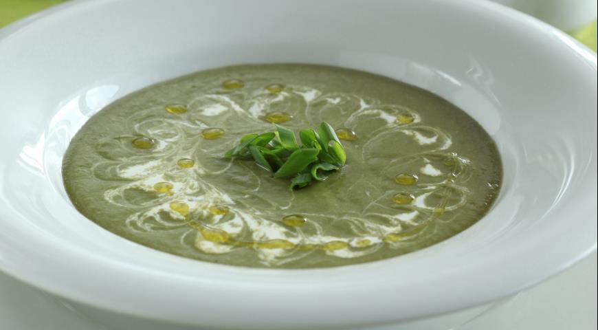 Рецепт Грибной суп со шпинатом