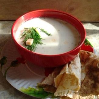 Рецепт Холодный суп-пюре с рисом