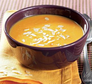 Рецепт Суп-крем из тыквы с миндалем