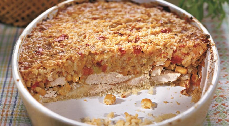 Рецепт Запеканка из курицы с кукурузой