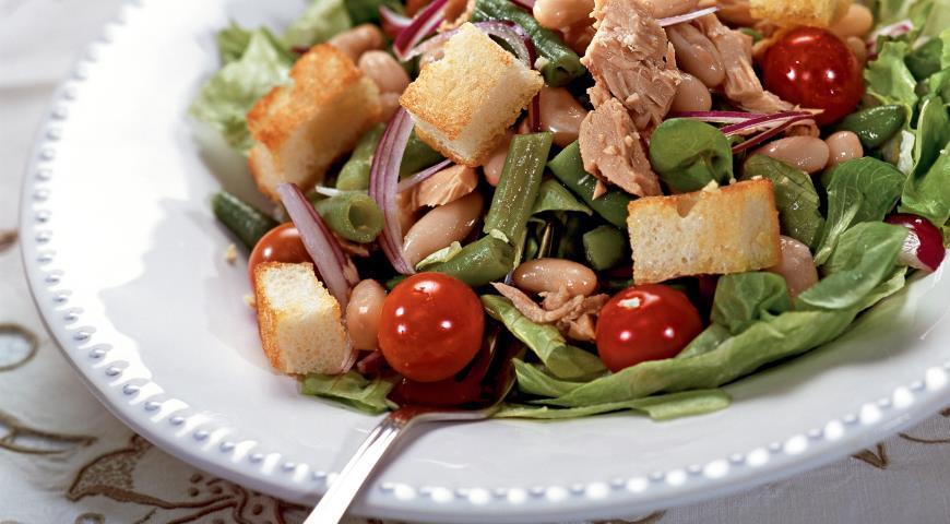 Рецепт Салат из фасоли по-тоскански