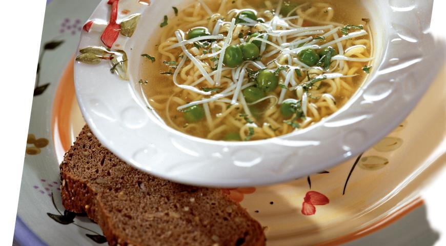 Рецепт Суп из горошка с вермишелью