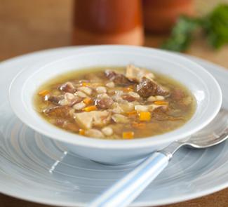 Рецепт Фасолевый суп с подберезовиками