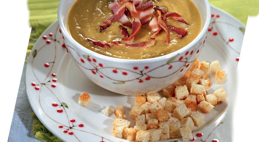 Рецепт Гороховый суп с копченой грудинкой