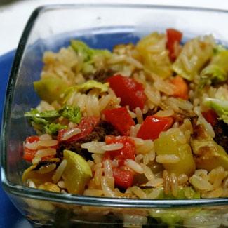 Рецепт Ризотто с овощами и говядиной