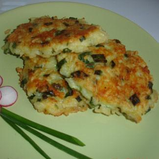 Рецепт Рисовые оладьи с сыром и луком