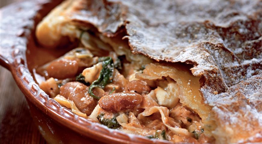 Рецепт Пирог с капустой и фасолью