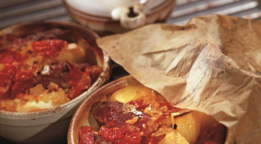 Рецепт Запеченные колбаски из свинины
