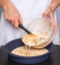 Пирог с заварным кремом из козьего сыра от Александра Селезнева