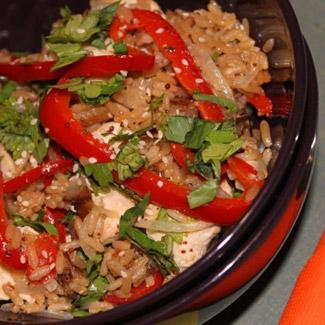 Рецепт запеканки с курицей и с рисом