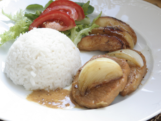 Рецепт Свинина с яблоками по-нормандски