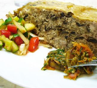 Рецепт Курица, фаршированная рисом и грибами