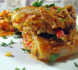 Рецепт Овощные голубцы в томатно-сметанном соусе