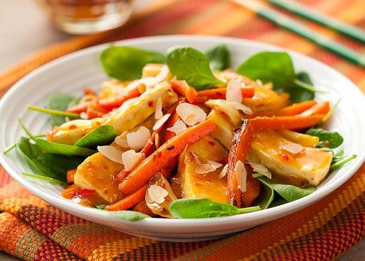Рецепт Тофу с морковью в апельсиновом соусе