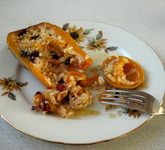 Рецепт Золотая каша в тыкве и яблоках