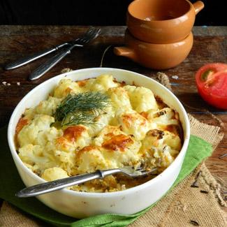 Рецепт Запеканка из риса и цветной капусты