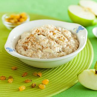 Рецепт Овсяная каша с яблоком, изюмом и корицей в мультиварке