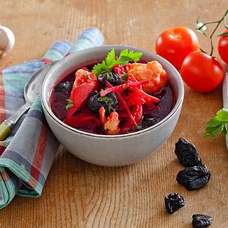 Рецепт Постный борщ с черносливом в мультиварке
