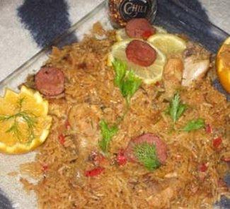 Рецепт Джамбалайя в вольном стиле с апельсиновой курицей