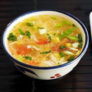Рецепт Китайский куриный суп с кукурузой в мультиварке