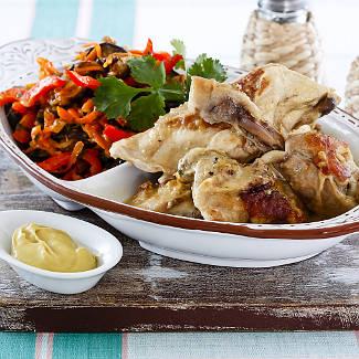Рецепт Цыпленок в горчичном соусе в мультиварке