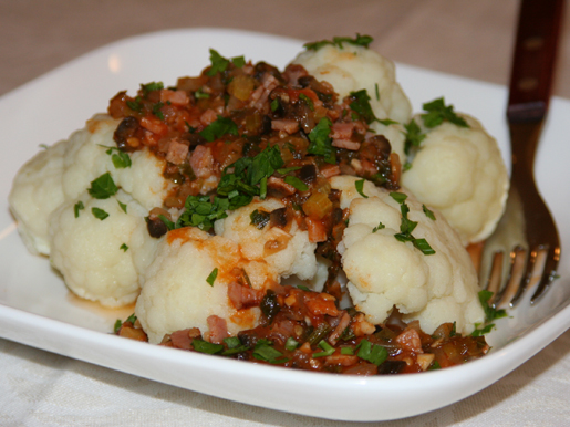 Рецепт Цветная капуста с пикантным соусом