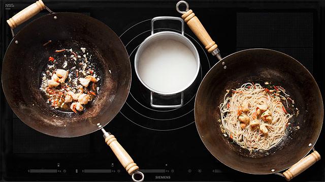 Рецепт Тайская лапша с креветками