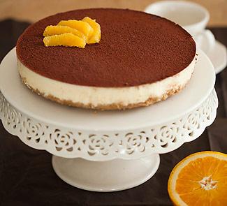 Рецепт Непеченый торт из черного хлеба с апельсиново-творожным кремом