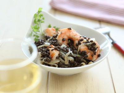 Рецепт Каталонский салат с черной чечевицей