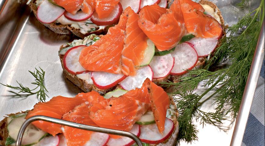 Рецепт Датский открытый сэндвич
