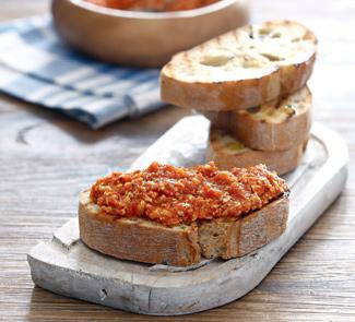 Рецепт Альмогроте, паштет из сыра с помидорами