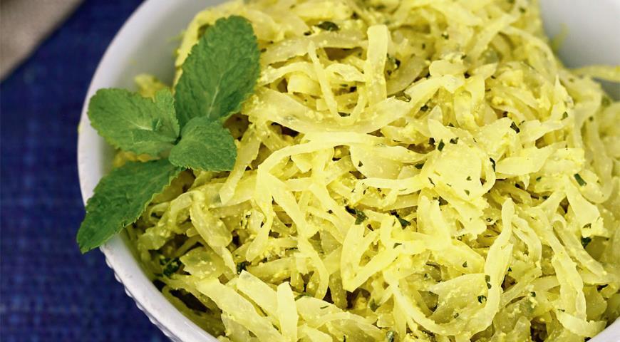 Рецепт Нежная капуста с зеленью