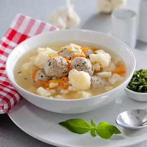 Итальянский суп с фрикадельками в мультиварке