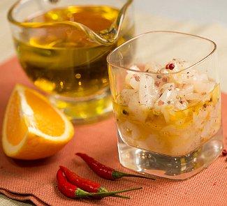 Рецепт Тартар из морского гребешка с апельсином и жгучим перцем