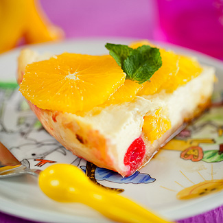 Рецепт Пестрая фруктово-творожная запеканка в мультиварке