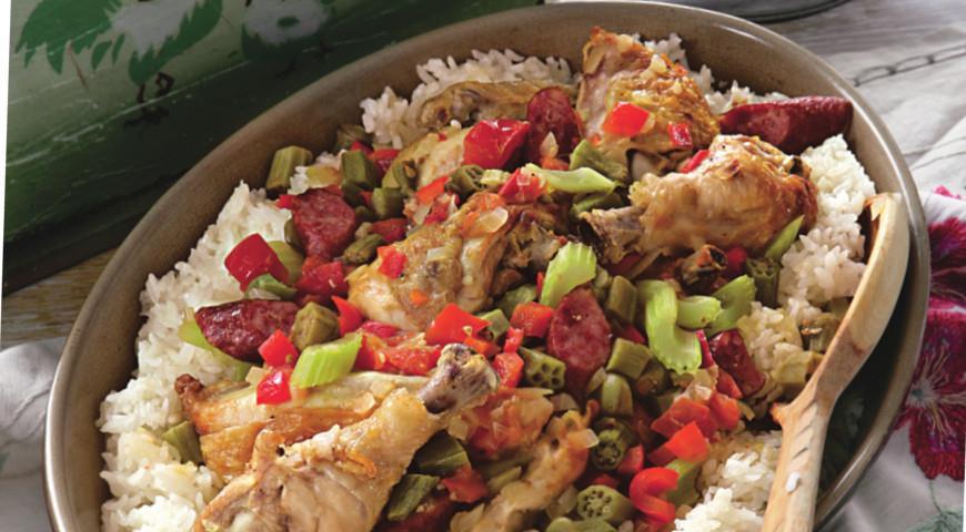 Рецепт Жареный цыпленок в стиле гамбо