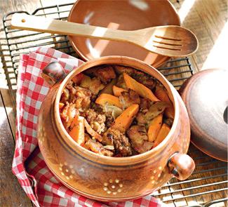 Рецепт Доб с говядиной и копченой свининой