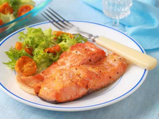 Рецепт Запеченная рыба и салат