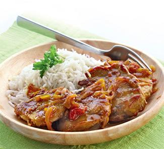 Рецепт Свинина со сладким луком карри