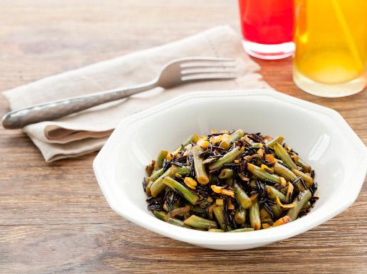 Рецепт Зеленая фасоль с диким рисом