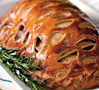 Рецепт Кулебяка со сложной мясной начинкой