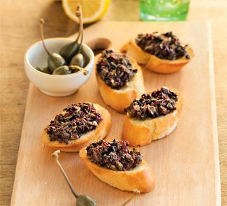 Рецепт Тартины с тапенадой