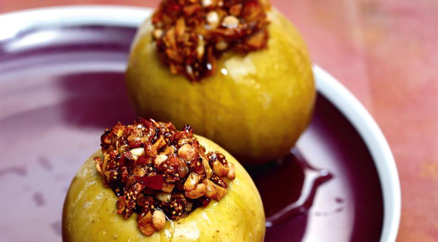 Рецепт Запеченные яблоки с инжиром