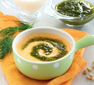 Рецепт Морковный суп-пюре с укропным песто